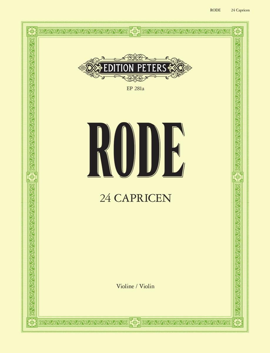Pierre Rode - 24 Caprices Davisson - Partition - di-arezzo.co.uk