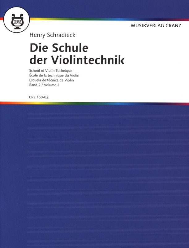 Henry Schradieck - School of Technique, Volume 2 - Violin - Partition - di-arezzo.it