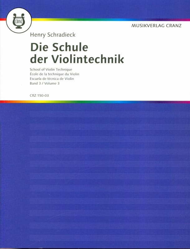 Henry Schradieck - School of Technique, Volume 3 - Violin - Partition - di-arezzo.it