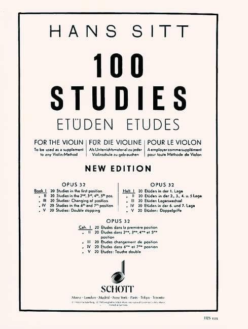 Hans Sitt - 100 studi su op. 32 - Libro 1 - Partition - di-arezzo.it