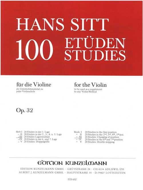 Hans Sitt - 100 studi su op. 32 - Libro 3 - Partition - di-arezzo.it