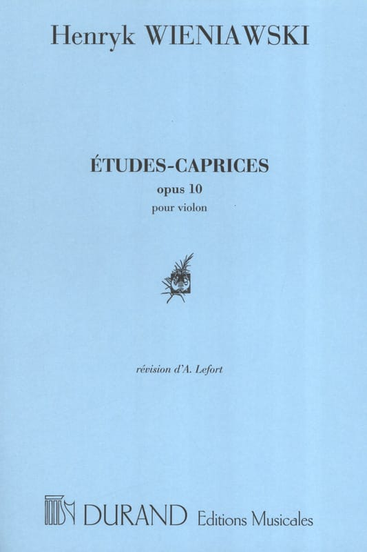 WIENIAWSKI - Studies-Caprices op. 10 - Partition - di-arezzo.co.uk