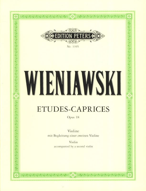 WIENIAWSKI - Etudes-Caprices op. 18 - Partition - di-arezzo.fr