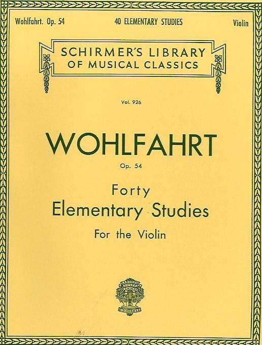 Franz Wohlfahrt - 40 Elementary Studies op. 54 - Partition - di-arezzo.co.uk