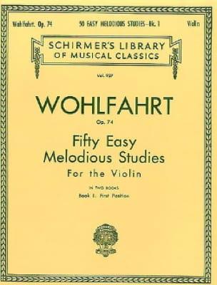 Franz Wohlfahrt - 50 Easy melodious studies op. 74, Volume 1 - Partition - di-arezzo.com