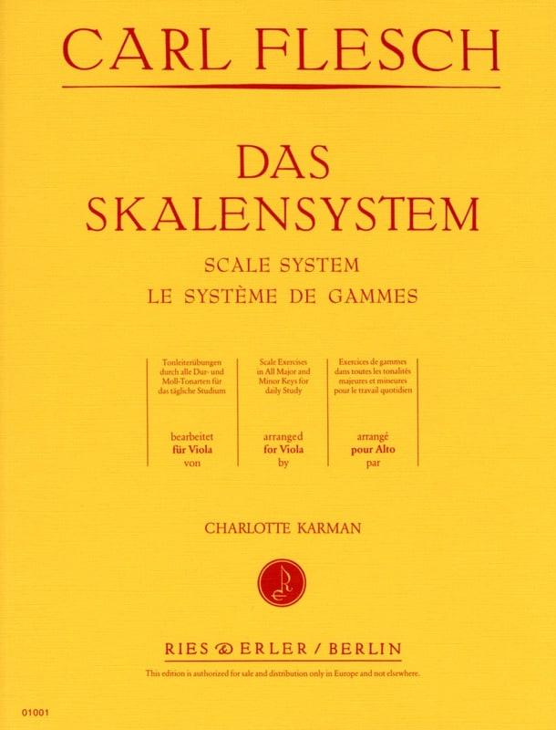 Le Système des Gammes - Alto - Carl Flesch - laflutedepan.com