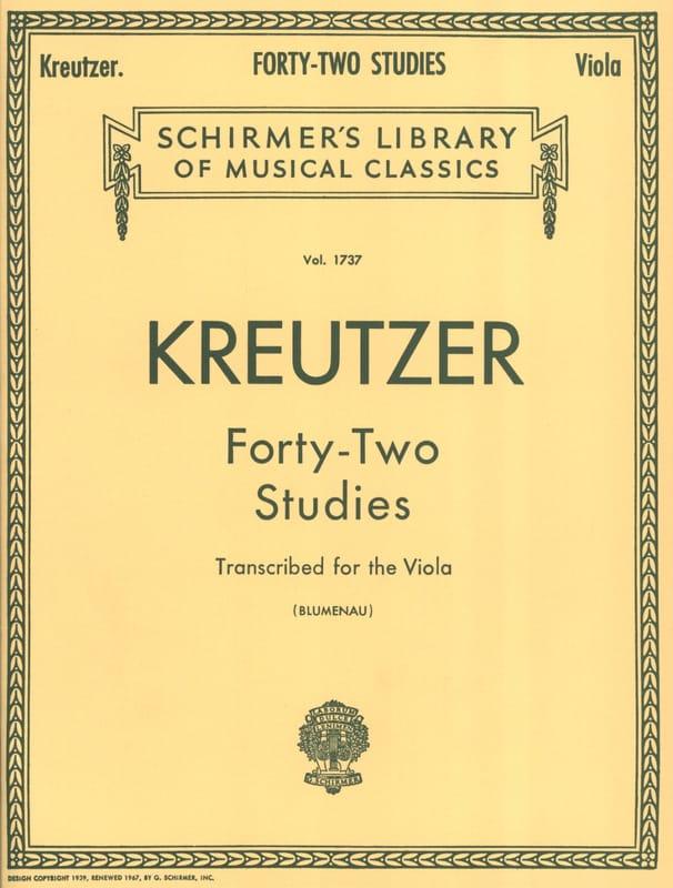 Rodolphe Kreutzer - 42 studi - Viola Blumenau - Partition - di-arezzo.it