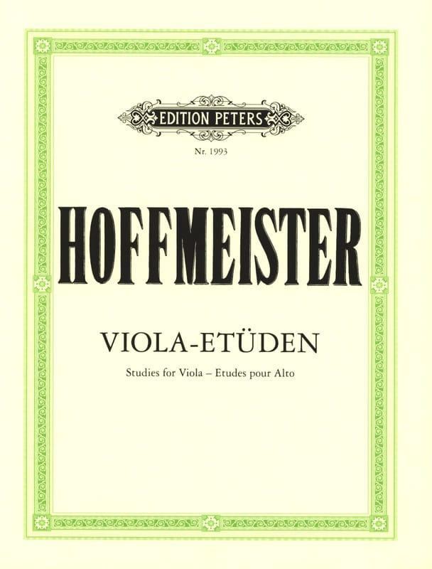 Viola-Etüden - Franz Anton Hoffmeister - Partition - laflutedepan.com