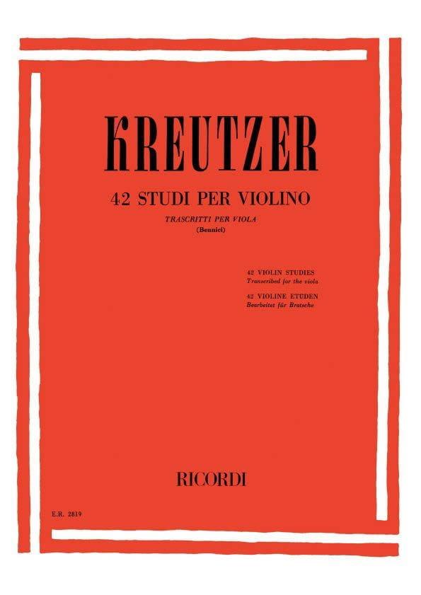 Rodolphe Kreutzer - 42 Studi per Violino - Viola Bennici - Partition - di-arezzo.it