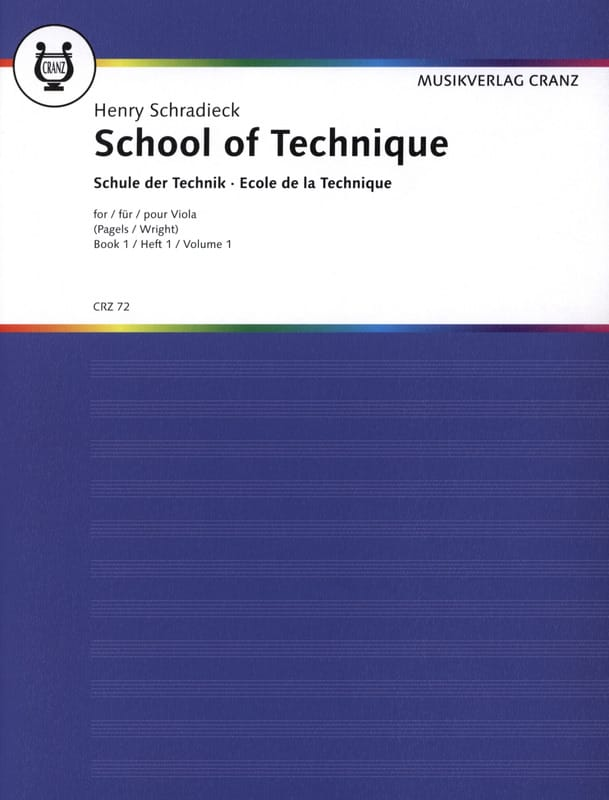 Henry Schradieck - School of Technique Volume 1 - Alto - Partition - di-arezzo.co.uk