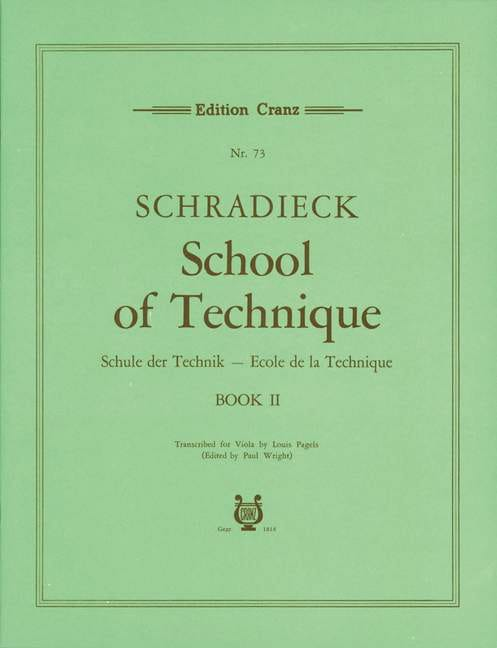 Henry Schradieck - School of Technique Volume 2 - Alto - Partition - di-arezzo.com