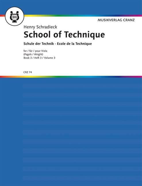 Henry Schradieck - School of Technique, Volume 3 - Alto - Partition - di-arezzo.com