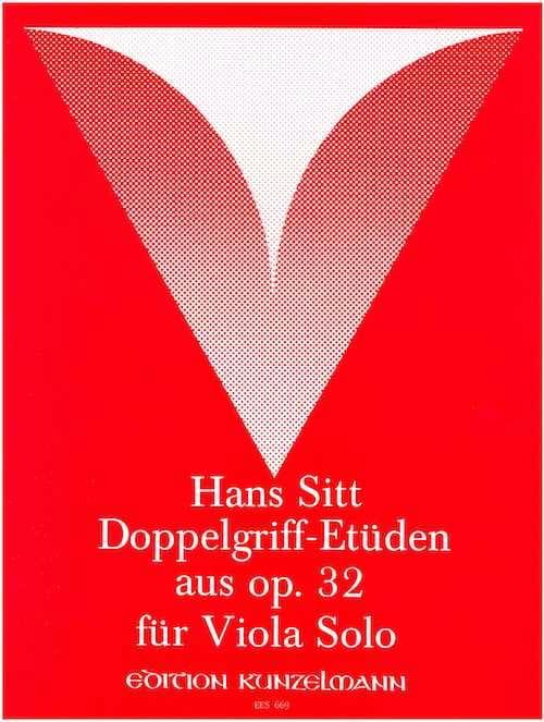 Doppelgriff-Etüden aus op. 32 - Viola - Hans Sitt - laflutedepan.com