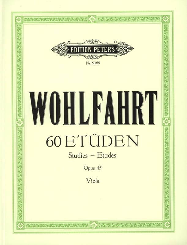 60 études op. 45 - Alto Spindler - Franz Wohlfahrt - laflutedepan.com