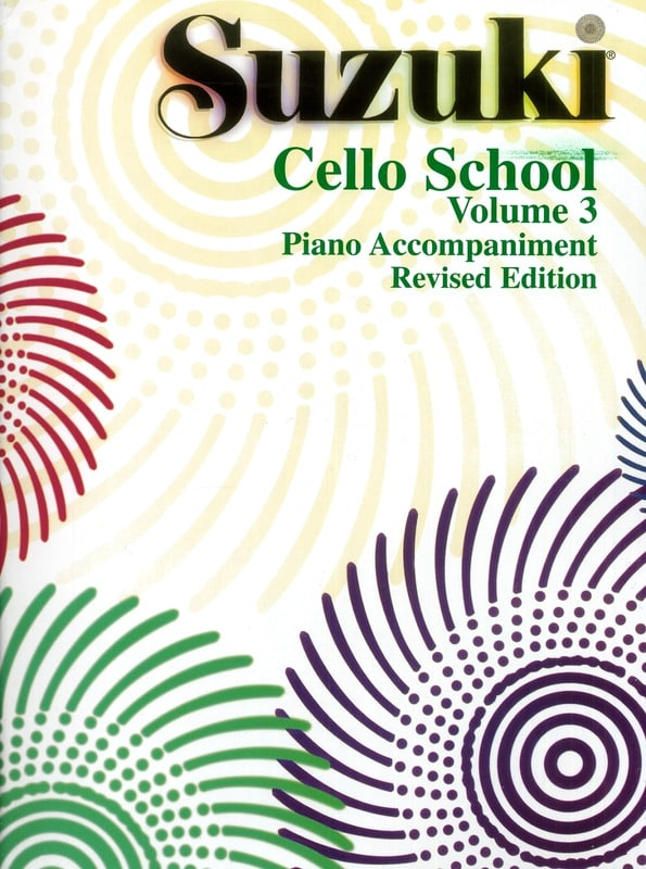 Suzuki - Cello School Volume 3 - Piano-Acc. - Partition - di-arezzo.co.uk