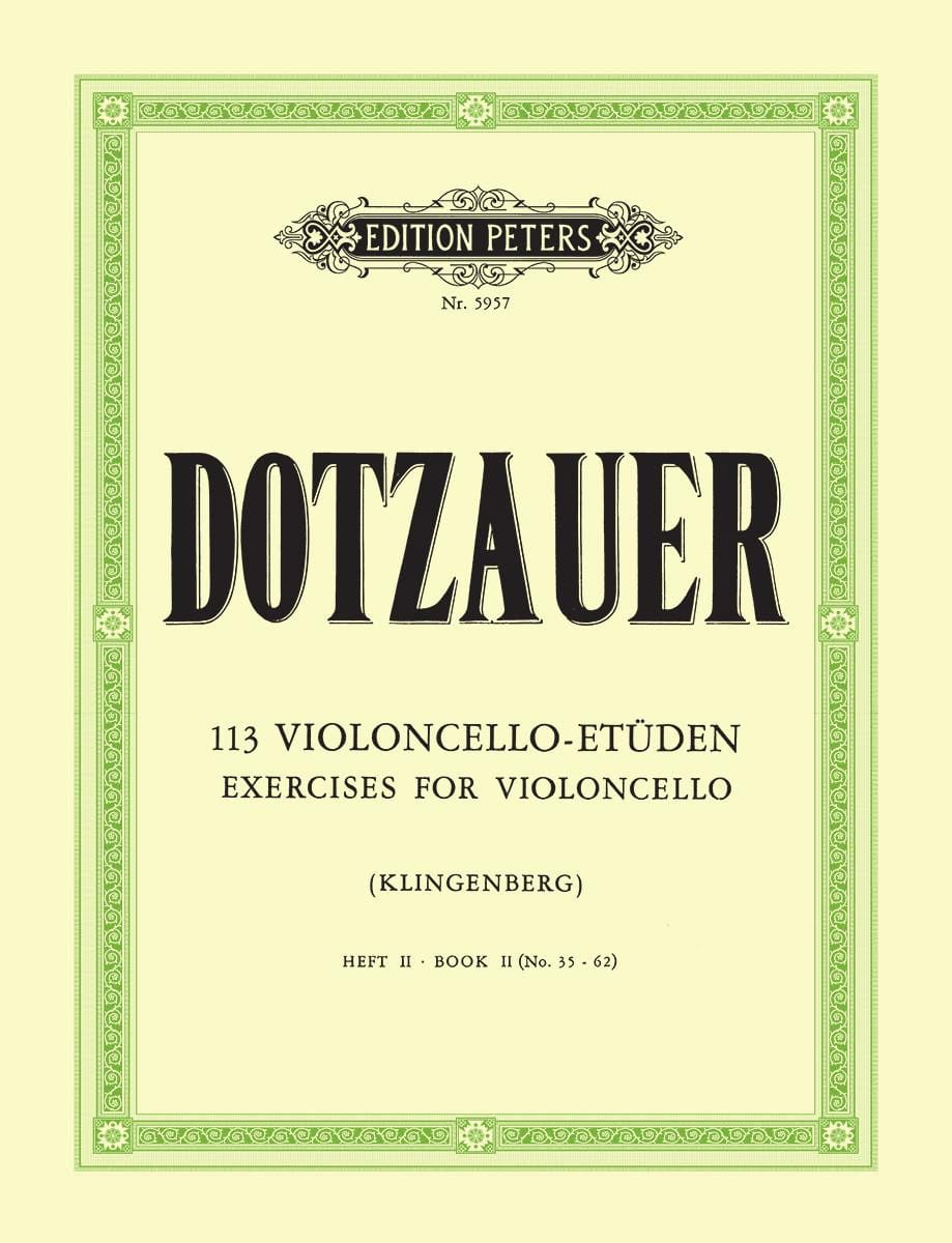 Friedrich Dotzauer - 113 Violoncello Etüden - Heft 2 35-62 - Partition - di-arezzo.co.uk
