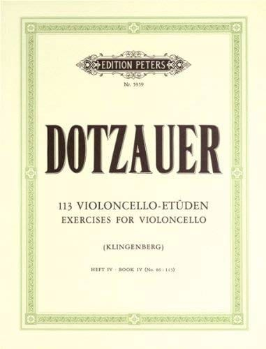Friedrich Dotzauer - 113 Violoncello Etüden - Heft 4 86-113 - Partition - di-arezzo.co.uk