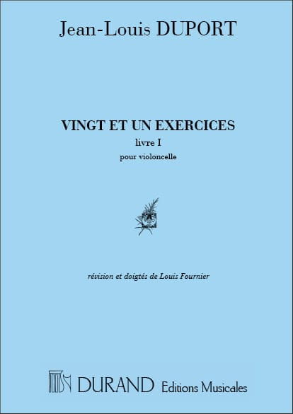 Jean Louis Duport - 21 Exercises - Book 1 1 to 13 - Partition - di-arezzo.co.uk