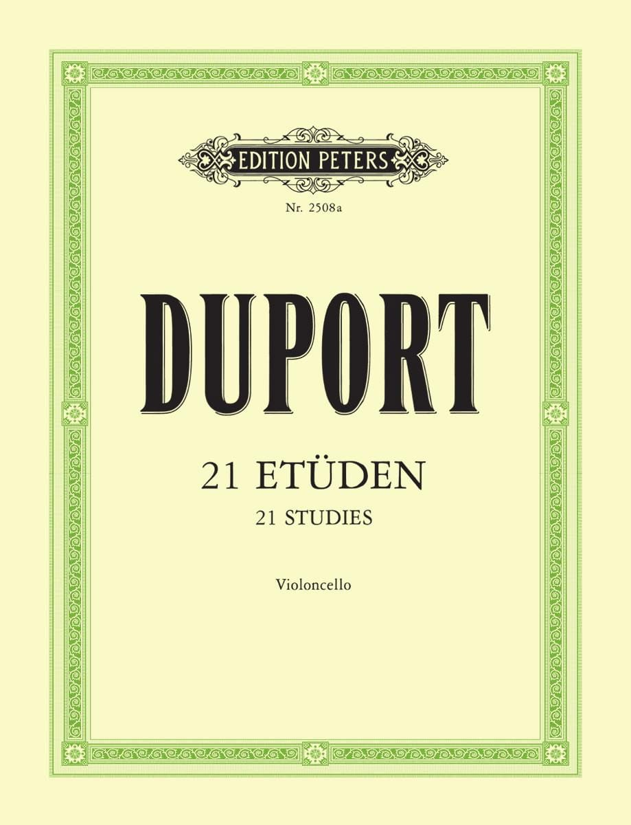 Jean Louis Duport - 21 Etudes - Cello - Partition - di-arezzo.co.uk