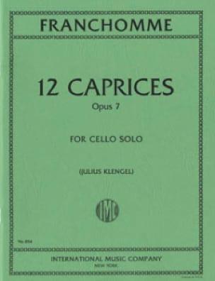 Auguste Franchomme - 12 Caprices op. 7 - Partition - di-arezzo.com