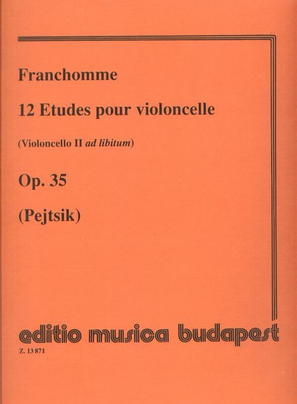 Auguste Franchomme - 12 Studies for cello op. 35 - Partition - di-arezzo.com