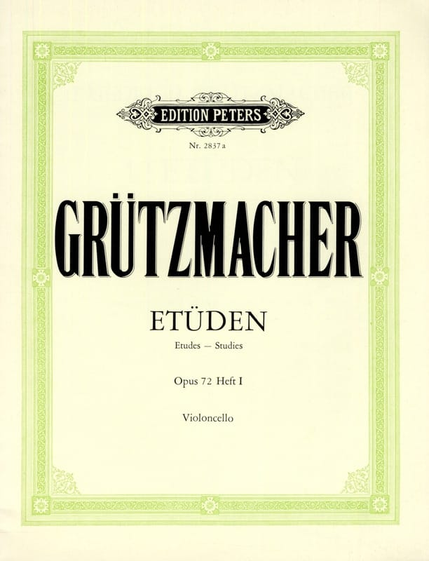 Friedrich Grützmacher - 12 Etüden op. 72 - Heft 1 - Partition - di-arezzo.co.uk