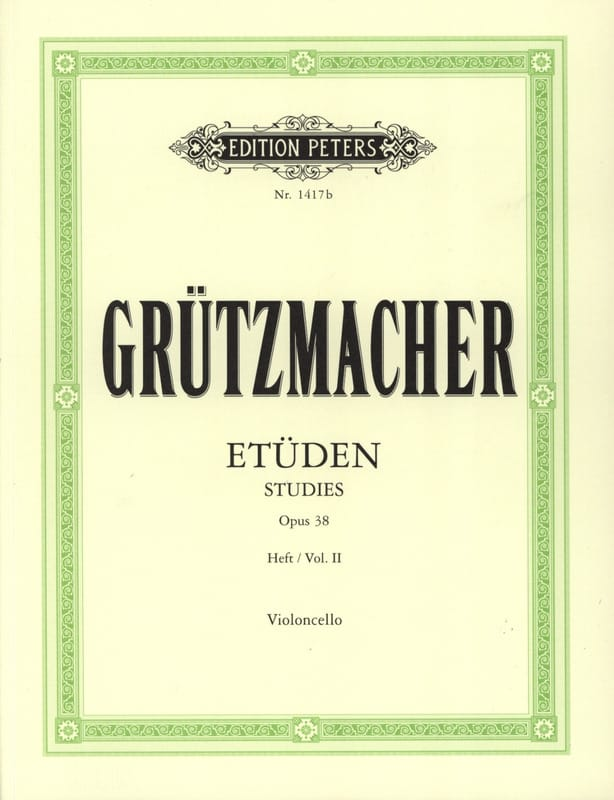 Friedrich Grützmacher - 24 Studies op. 38 - volume 2 - Partition - di-arezzo.co.uk