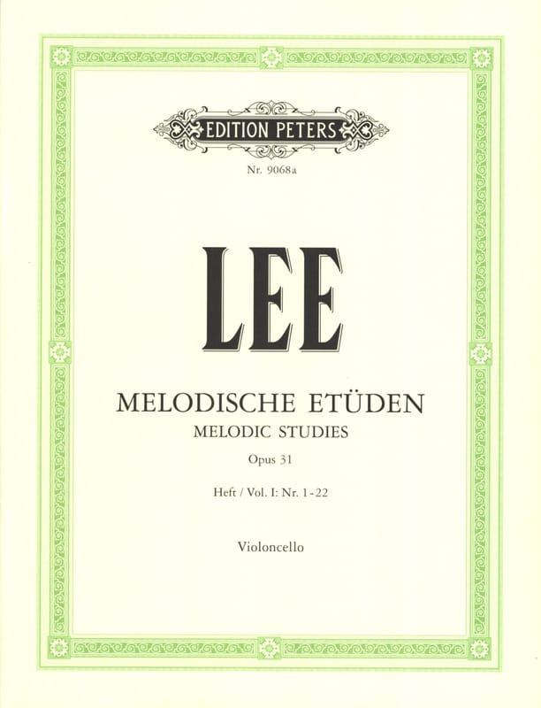 Sebastian Lee - Melodische Etüden op. 31 - Volume 1 - Partition - di-arezzo.co.uk