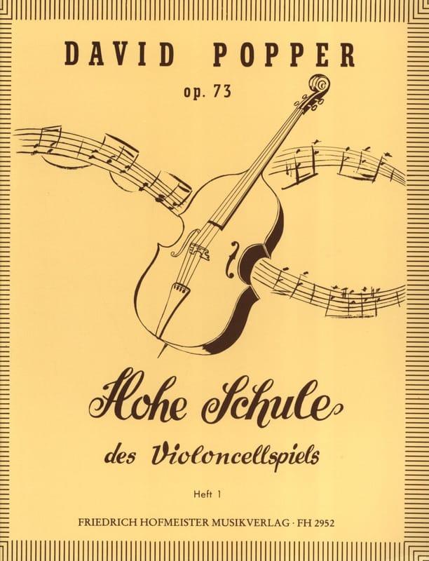 David Popper - Hohe Schule of Violoncellspiels op. 73, Heft 1 - Partition - di-arezzo.co.uk