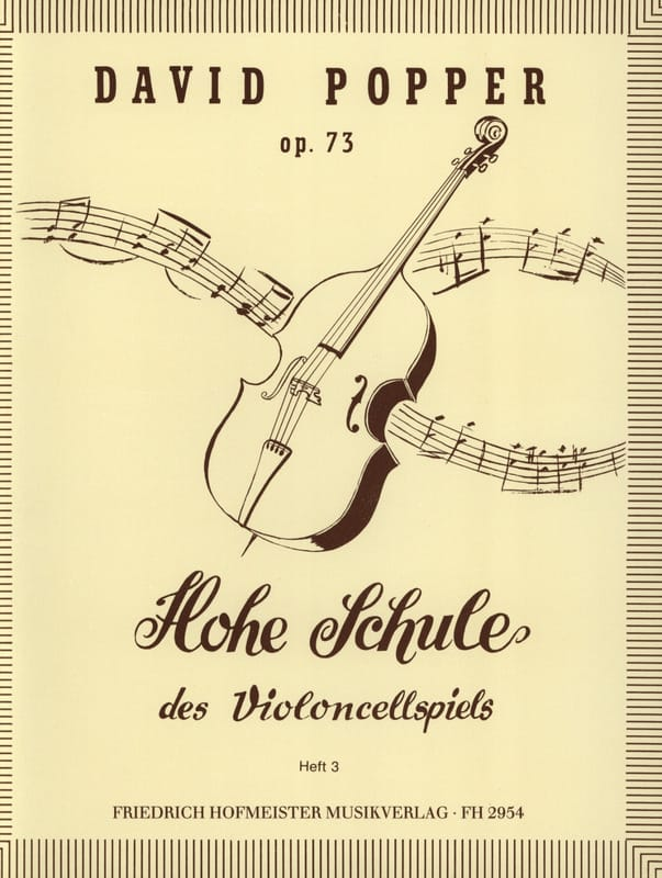 David Popper - Hohe Schule of Violoncellspiels op. 73, Heft 3 - Partition - di-arezzo.co.uk