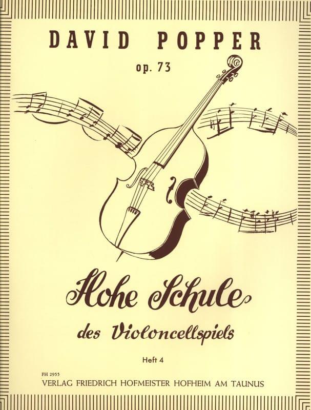 David Popper - Hohe Schule of Violoncellspiels op. 73, Heft 4 - Partition - di-arezzo.co.uk