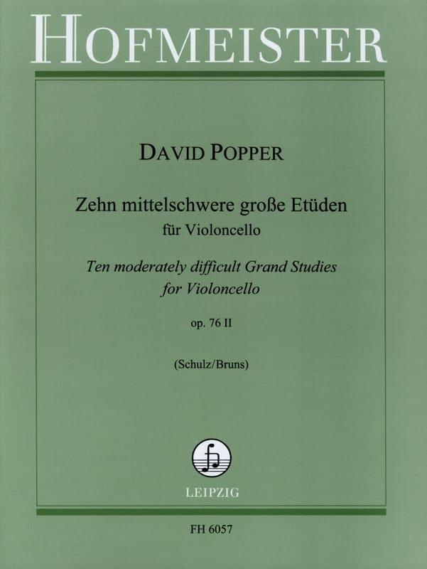 David Popper - 10 Etüden op. 76/2 - Partition - di-arezzo.co.uk