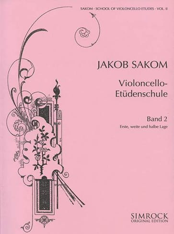 Jakob Sakom - Violoncello Etüden-Schule, Heft 2 - Partition - di-arezzo.com
