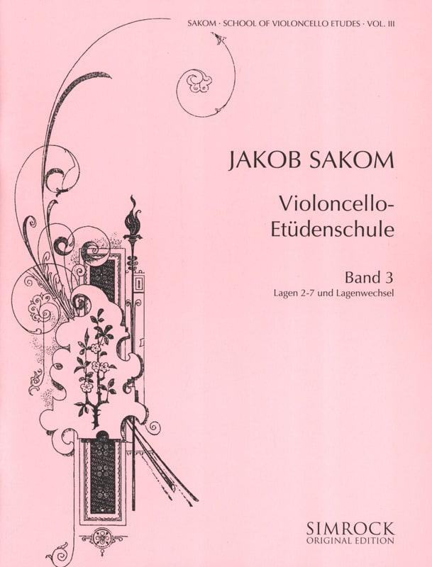 Violoncelle Etüden-Schule Heft 3 - Jakob Sakom - laflutedepan.com