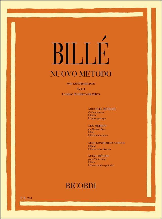 Isaia Billè - New bass method, P. 1/1 - Partition - di-arezzo.co.uk