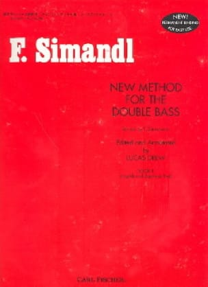 Franz Simandl - New method for the double bass, Volume 1 - Partition - di-arezzo.fr