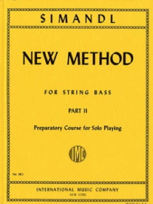 Franz Simandl - New method for string bass, part 2 - Partition - di-arezzo.fr