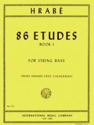 86 Etudes, Volume 1 - String bass - Josef Hrabe - laflutedepan.com