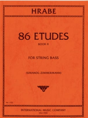Josef Hrabe - 86 Etudes, Volume 2 - String bass - Partition - di-arezzo.fr