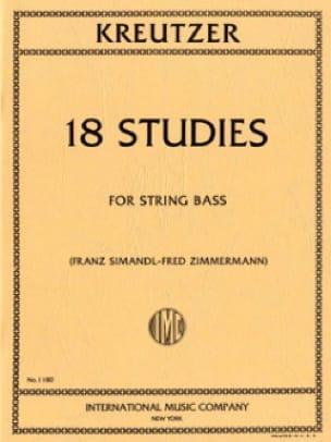 Rodolphe Kreutzer - 18 Studies - Double Bass - Partition - di-arezzo.co.uk