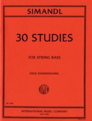 Franz Simandl - 30 Estudios - Bajo String - Partition - di-arezzo.es