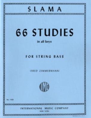 66 Studies - String bass - Anton Slama - Partition - laflutedepan.com