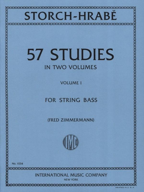 Storch J. E. / Hrabe Josef - 57 Studies, Volume 1 - String bass - Partition - di-arezzo.co.uk