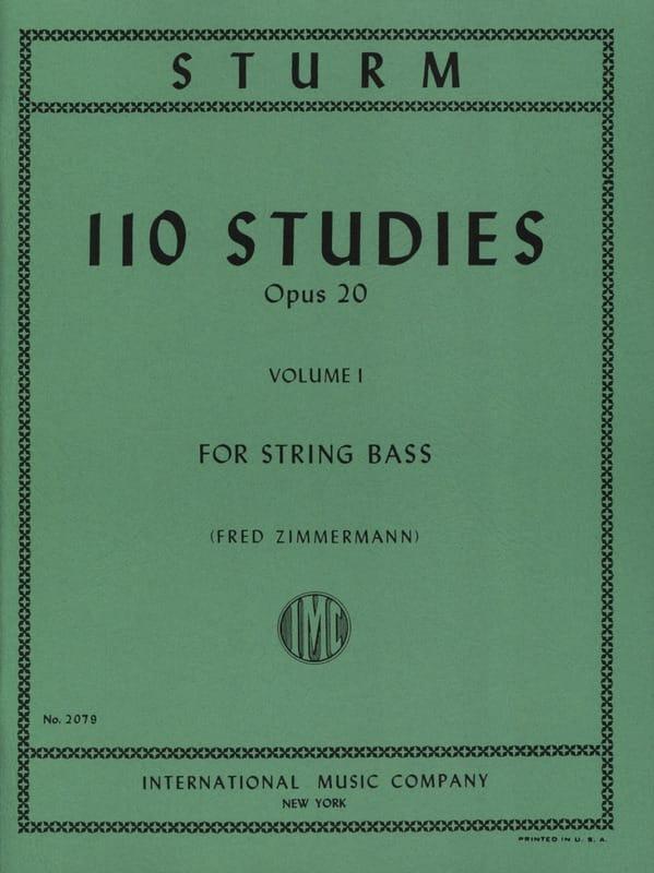 Wilhelm Sturm - 110 Studies op. 20, Volume 1 - Partition - di-arezzo.co.uk