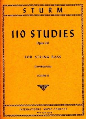 Wilhelm Sturm - 110 Studies op. 20, Volume 2 - String bass - Partition - di-arezzo.co.uk