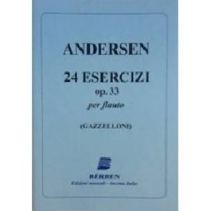 24 Esercizi op. 33 - ANDERSEN - Partition - laflutedepan.com