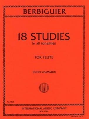 18 Studies - Benoît-Tranquille Berbiguier - laflutedepan.com