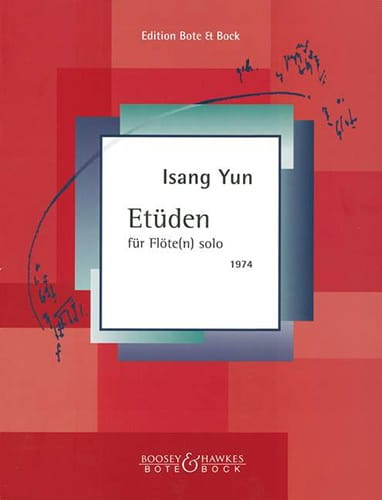Isang Yun - Etüden - Flöten solo - Partition - di-arezzo.co.uk