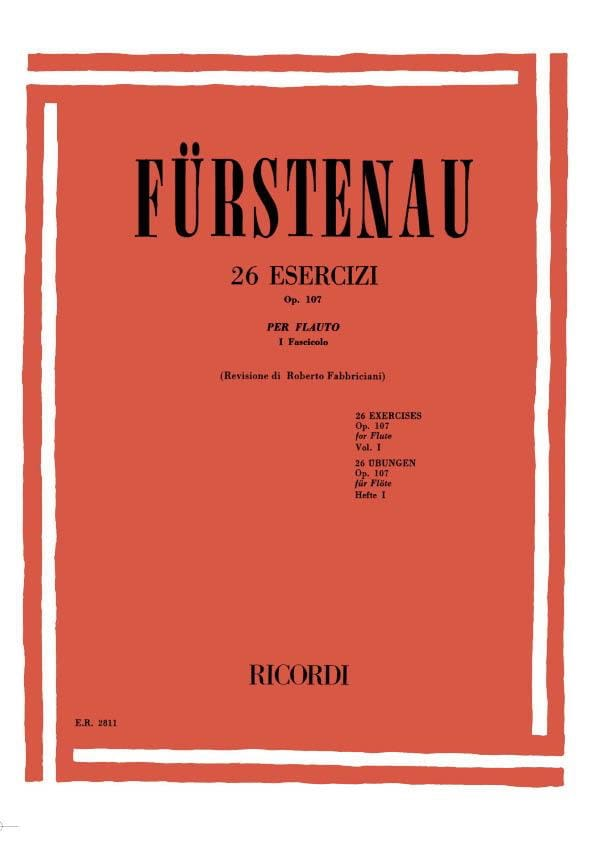 Anton Bernhard Fürstenau - 26 Exercises op. 107 - Volume 1 - Partition - di-arezzo.co.uk
