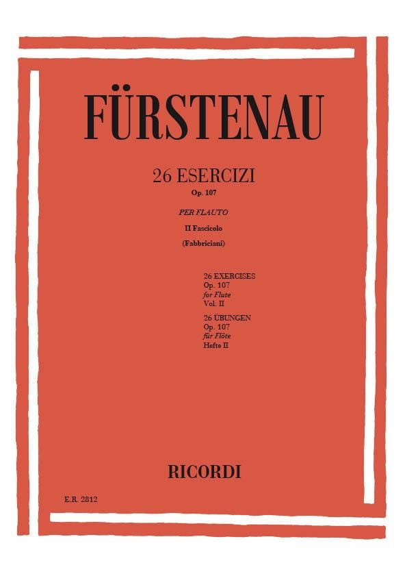Anton Bernhard Fürstenau - 26 Exercises op. 107 - Volume 2 - Partition - di-arezzo.co.uk